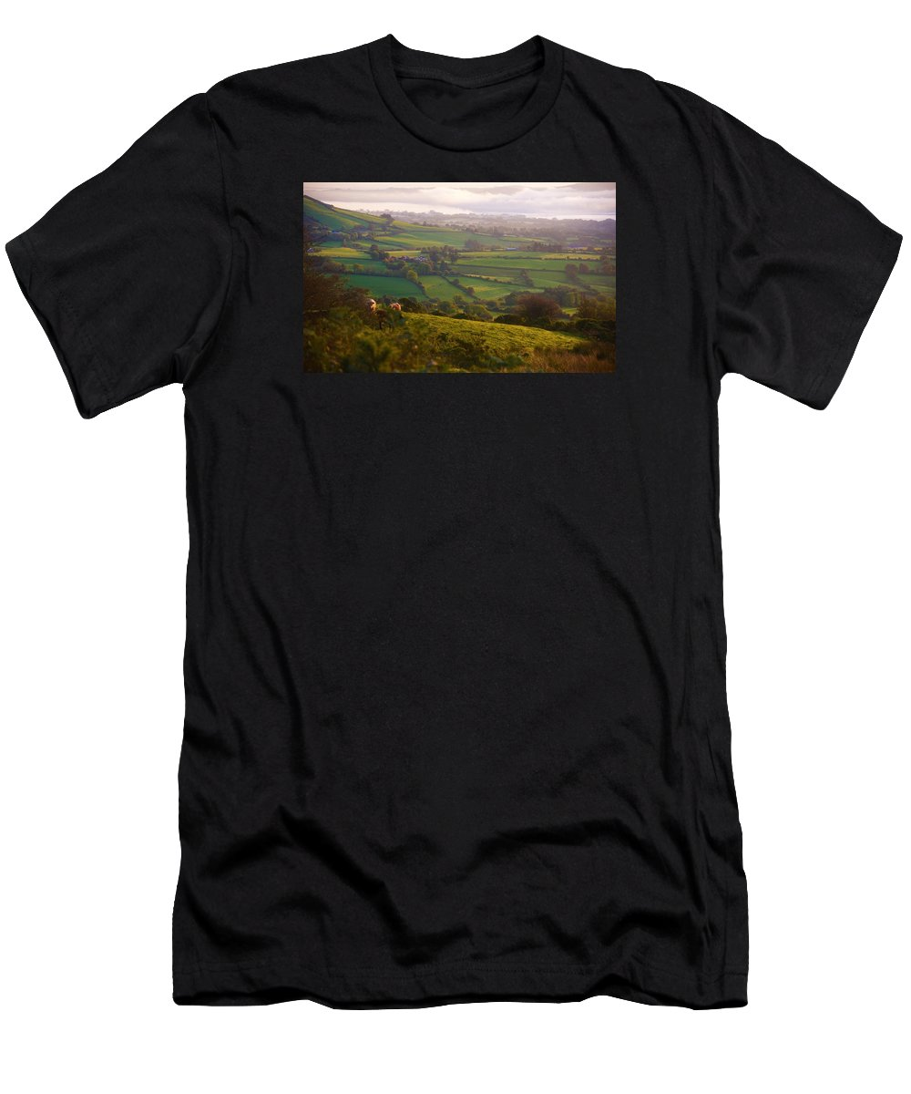 Landscape Men's T-Shirt (Athletic Fit) featuring the photograph Early Morning Glory by Johnny Griffin