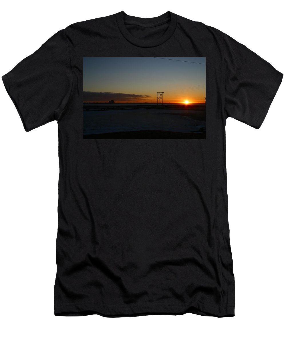 Sunrise Men's T-Shirt (Athletic Fit) featuring the photograph Early Morning Sunrise by Anthony Jones