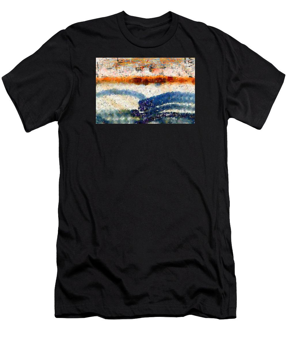 Abstract Men's T-Shirt (Athletic Fit) featuring the digital art Early Morning Walk by Bruce Vollert