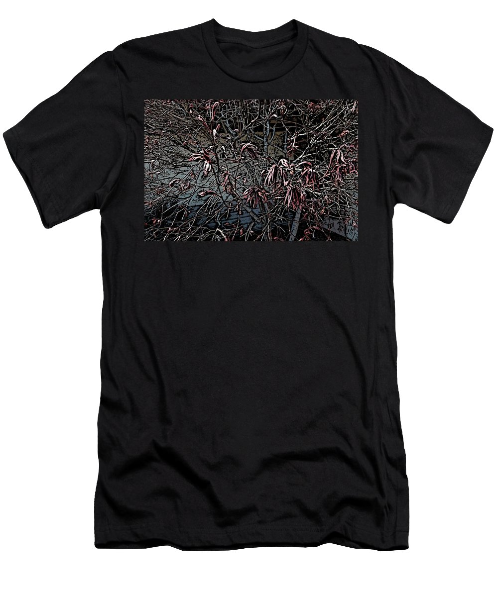 Digital Photography Men's T-Shirt (Athletic Fit) featuring the digital art Early Spring Abstract by David Lane
