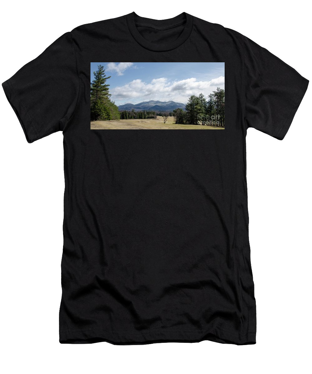 Landscape Men's T-Shirt (Athletic Fit) featuring the photograph Early Spring In Lake Placid by Centre Art Gallery By Christine Montenegro