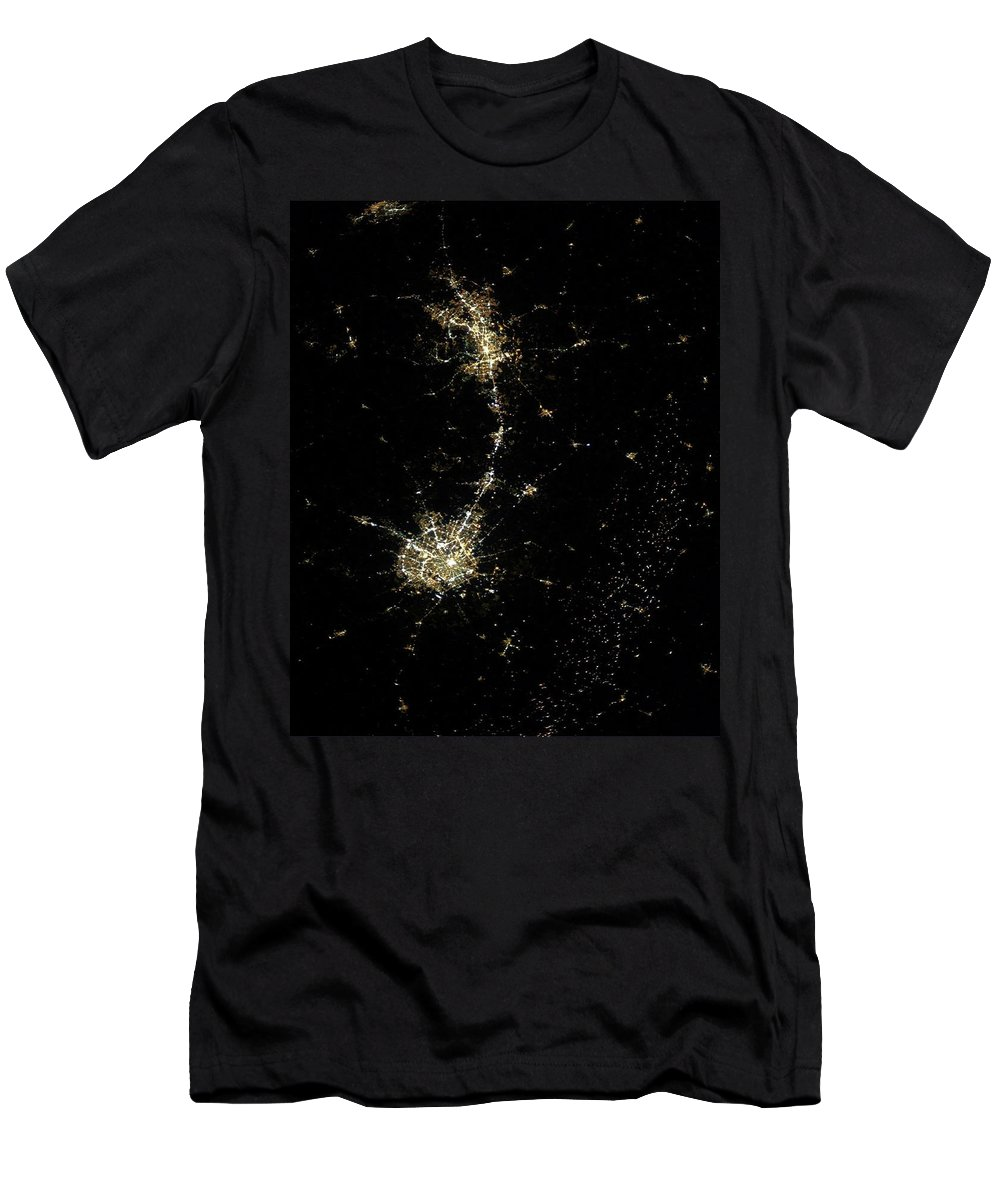 Texas Men's T-Shirt (Athletic Fit) featuring the photograph Earthbound Nebulae by Richard Campbell