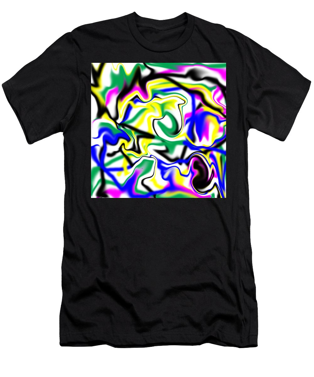 Abstract Men's T-Shirt (Athletic Fit) featuring the digital art Earthripe by Blind Ape Art