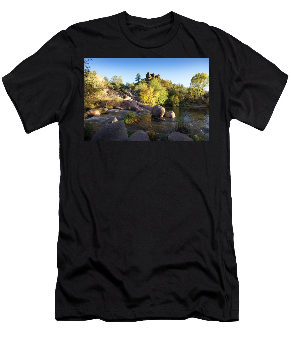 Arizona Men's T-Shirt (Athletic Fit) featuring the photograph East Verde Revisited by Cathy Franklin