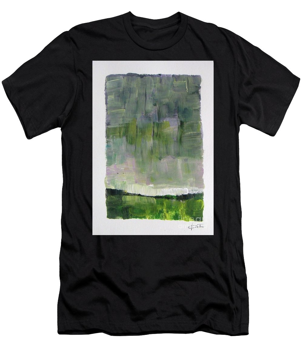 Abstract Men's T-Shirt (Athletic Fit) featuring the painting Easter Day by Vesna Antic