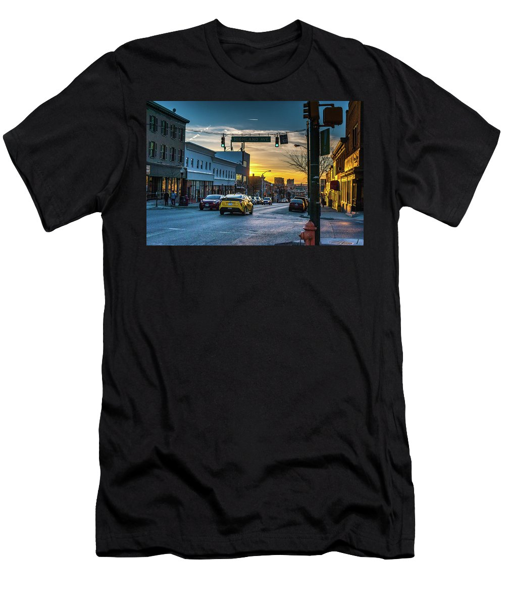 2017 Men's T-Shirt (Athletic Fit) featuring the photograph Eastern Avenue Sunset by Jim Archer