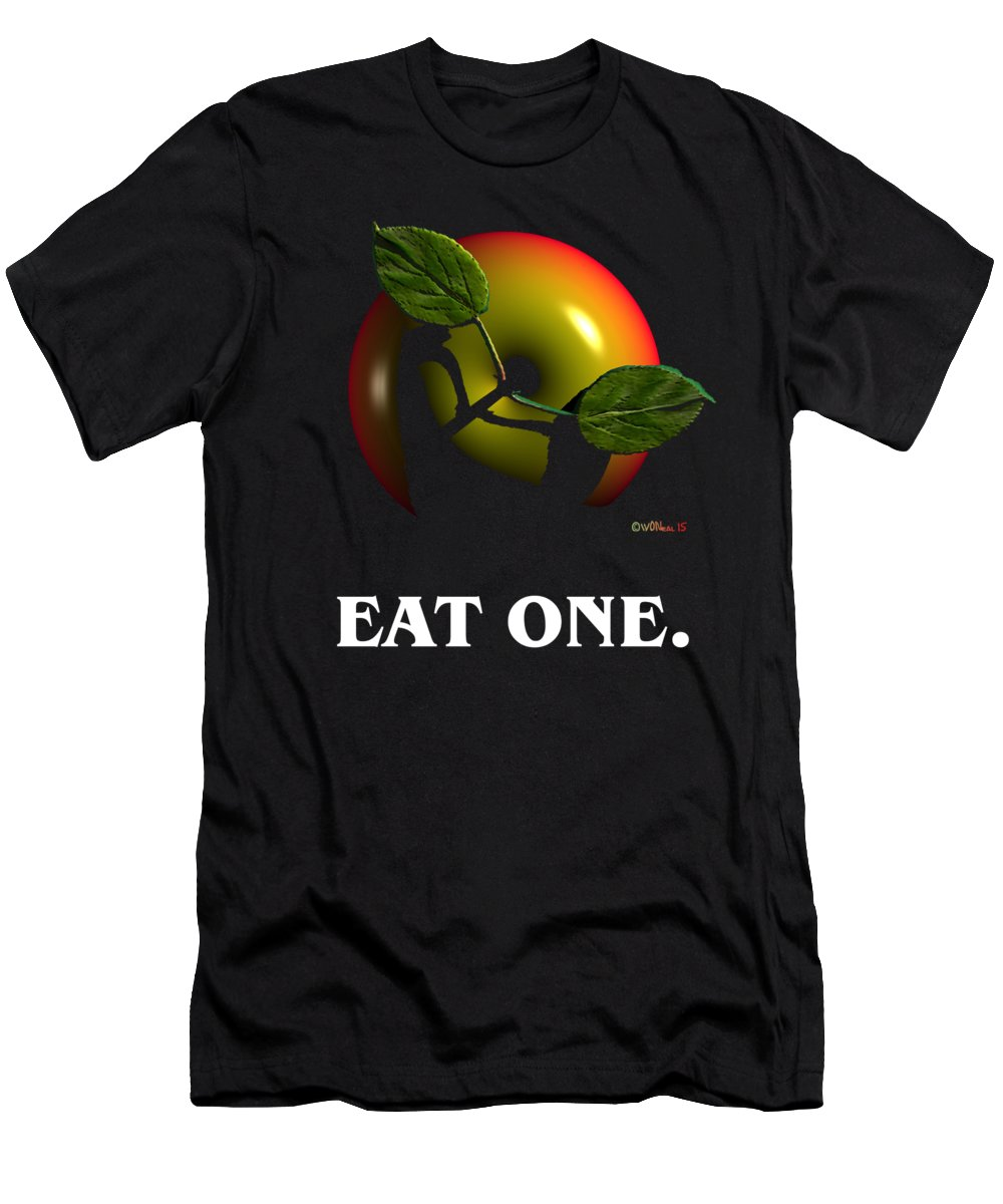 Fruit T-Shirt featuring the digital art Eat One by Walter Neal