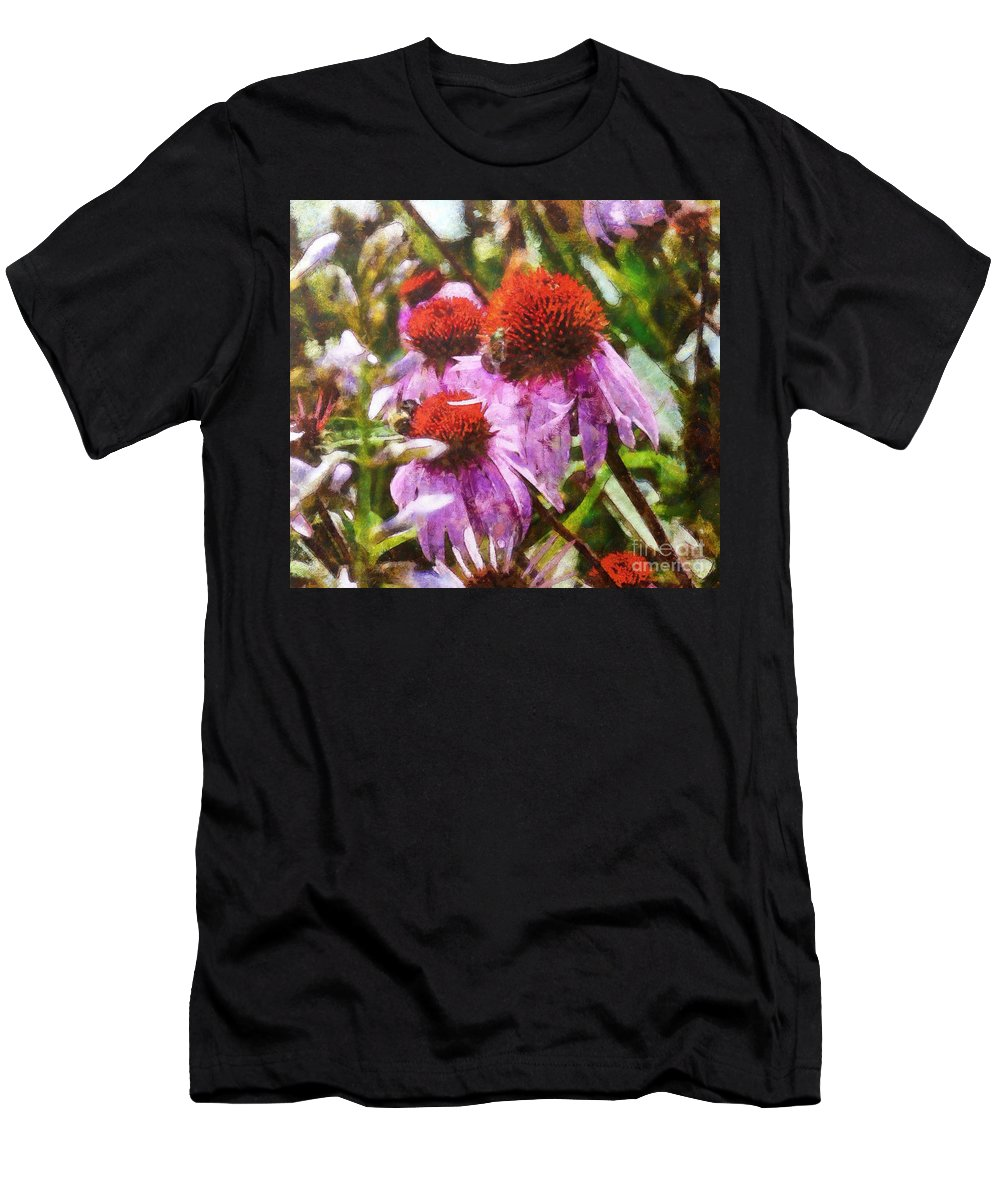 Nature Men's T-Shirt (Athletic Fit) featuring the digital art Echinacea Watercolor 2015 by Kathryn Strick