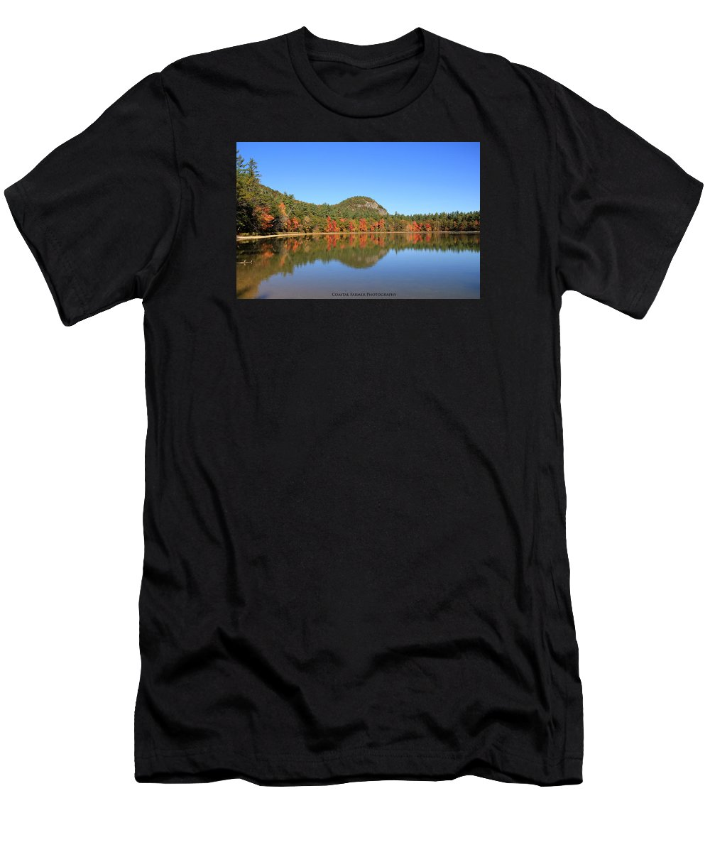 Nature Men's T-Shirt (Athletic Fit) featuring the photograph Echo Lake by Becca Wilcox