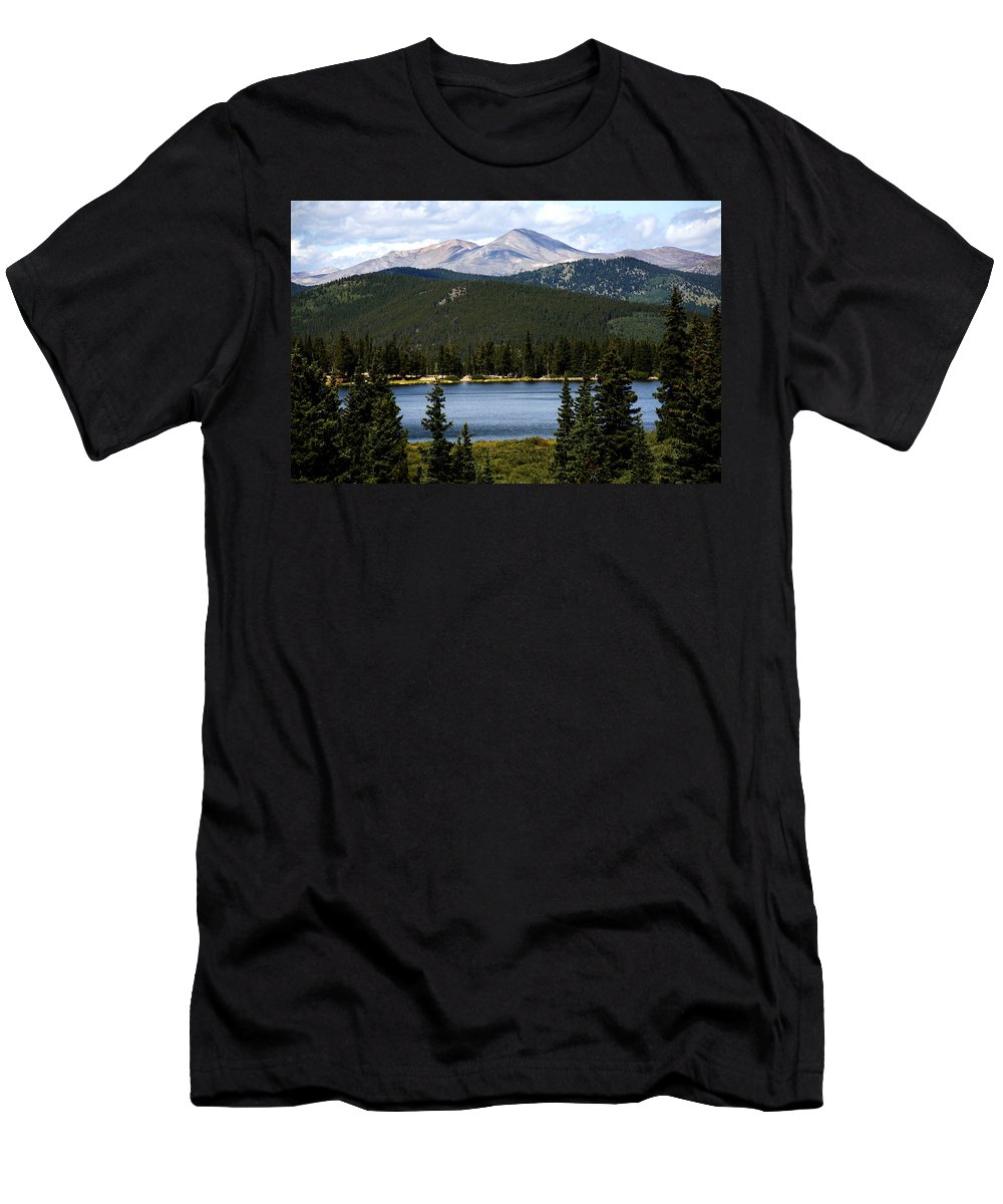 Colorado Men's T-Shirt (Athletic Fit) featuring the photograph Echo Lake Colorado by Marilyn Hunt