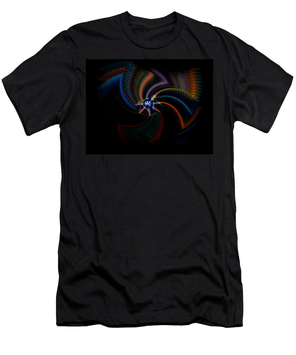 Chaos Men's T-Shirt (Athletic Fit) featuring the painting Echoes by Charles Stuart