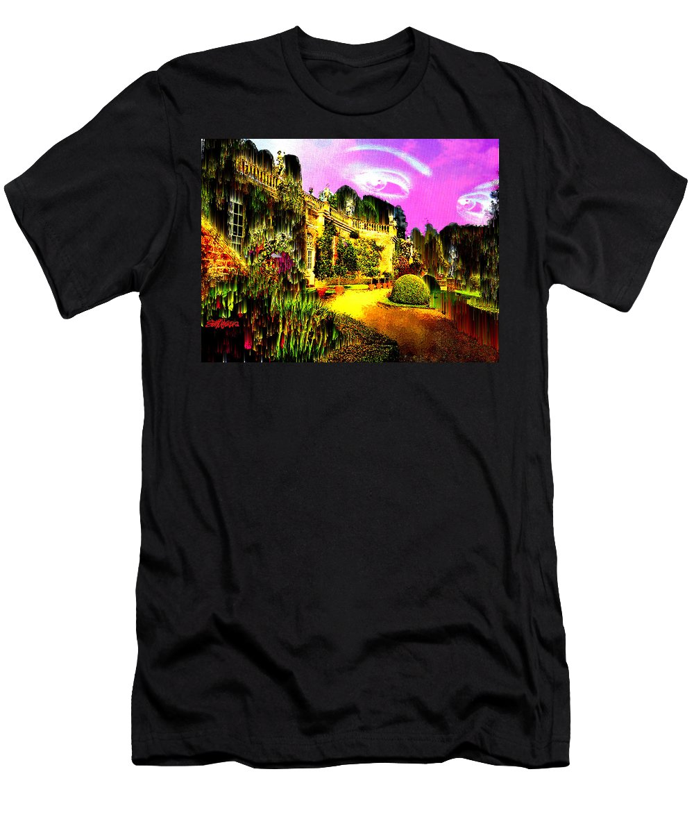 Mansion Men's T-Shirt (Athletic Fit) featuring the digital art Eerie Estate by Seth Weaver