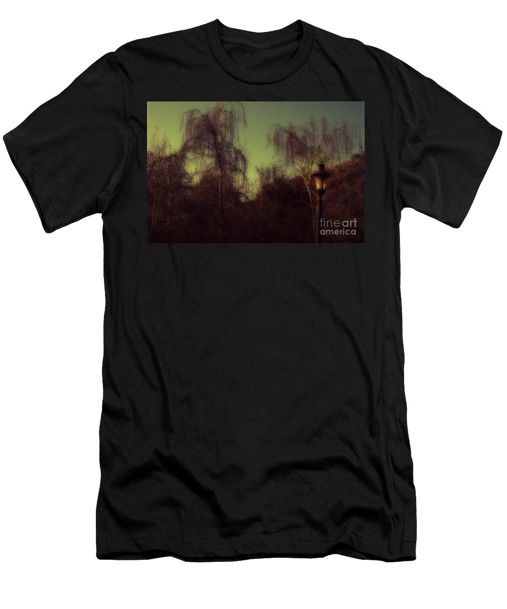 Clay Men's T-Shirt (Athletic Fit) featuring the photograph Eery Park by Clayton Bruster