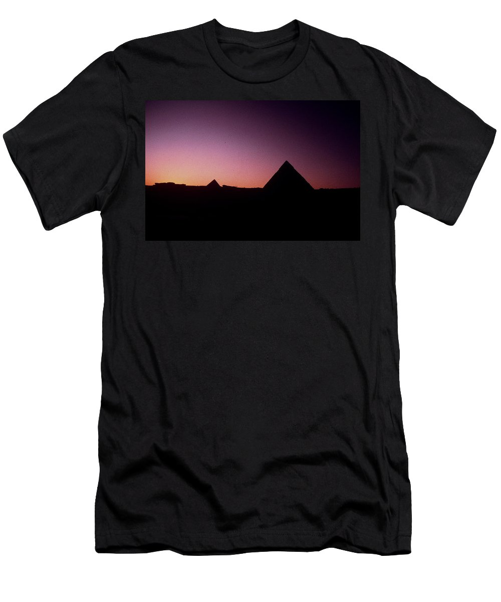 Egypt Men's T-Shirt (Athletic Fit) featuring the photograph Egyptian Sunset by Gary Wonning