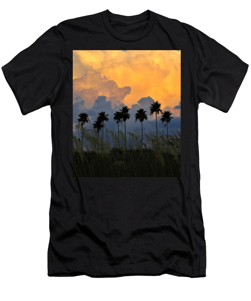 Fine Art Photography Men's T-Shirt (Athletic Fit) featuring the photograph Eight Palms by David Lee Thompson