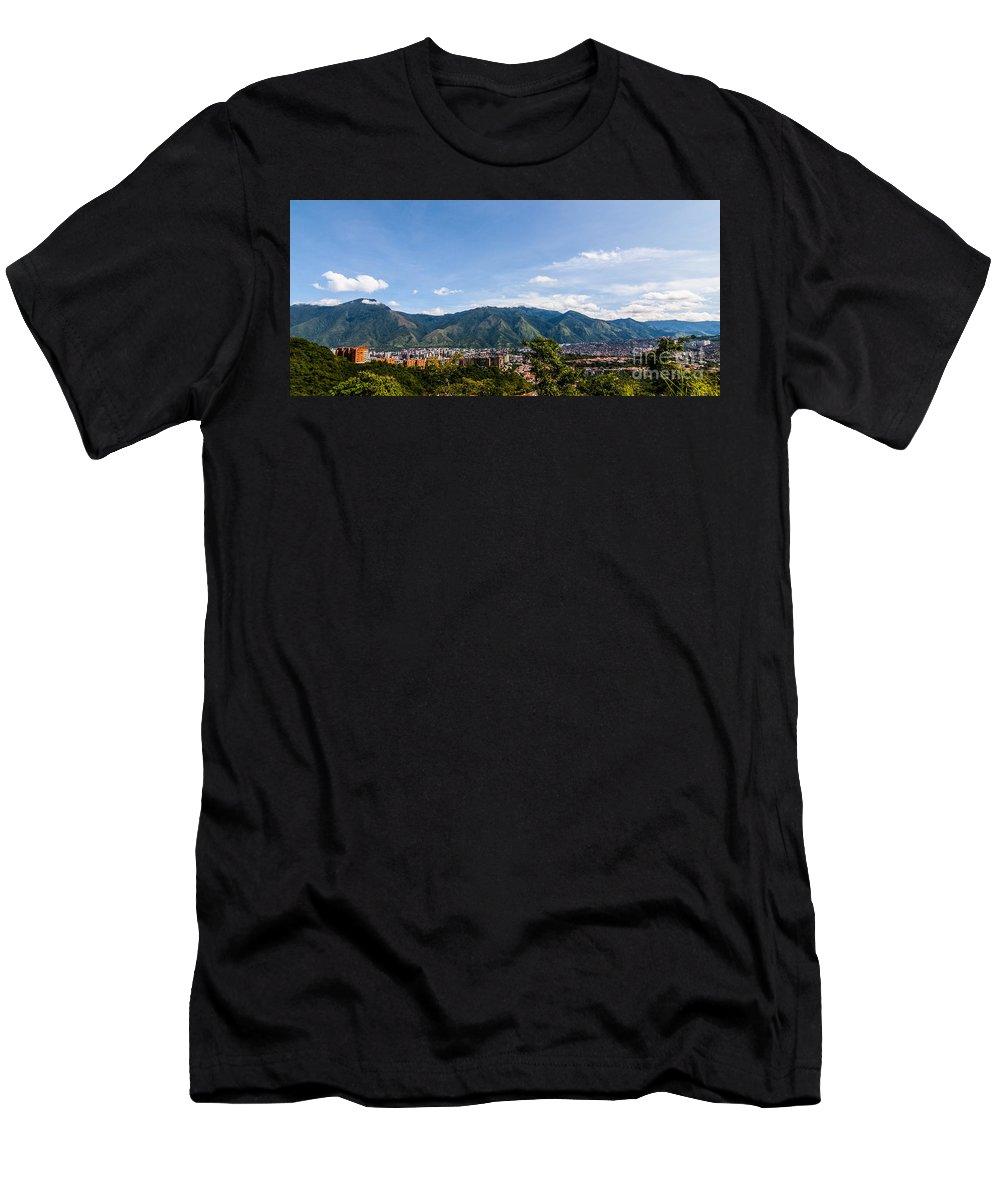Avila Men's T-Shirt (Athletic Fit) featuring the photograph El Avila by Carolina Mendez