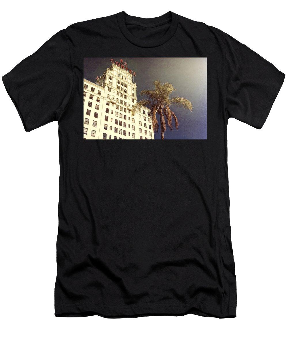 California Men's T-Shirt (Athletic Fit) featuring the photograph El Cortez by Claude LeTien