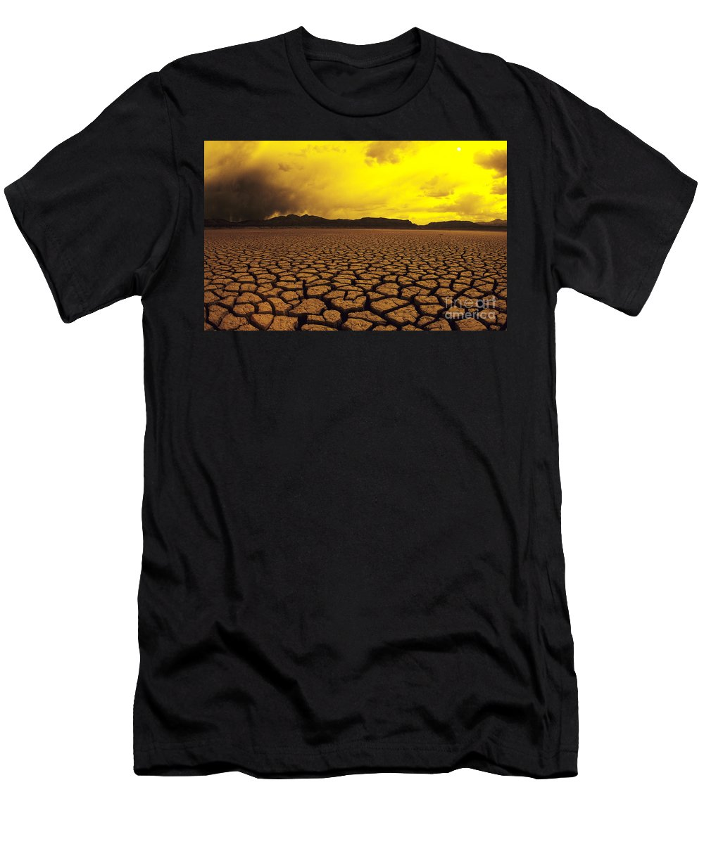 Afternoon Men's T-Shirt (Athletic Fit) featuring the photograph El Mirage Desert by Larry Dale Gordon - Printscapes