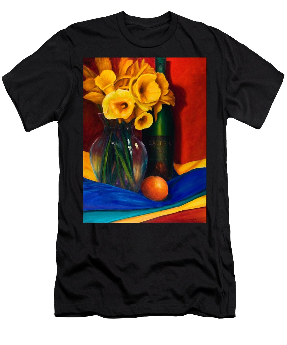 Red Men's T-Shirt (Athletic Fit) featuring the painting El Nino by Shannon Grissom