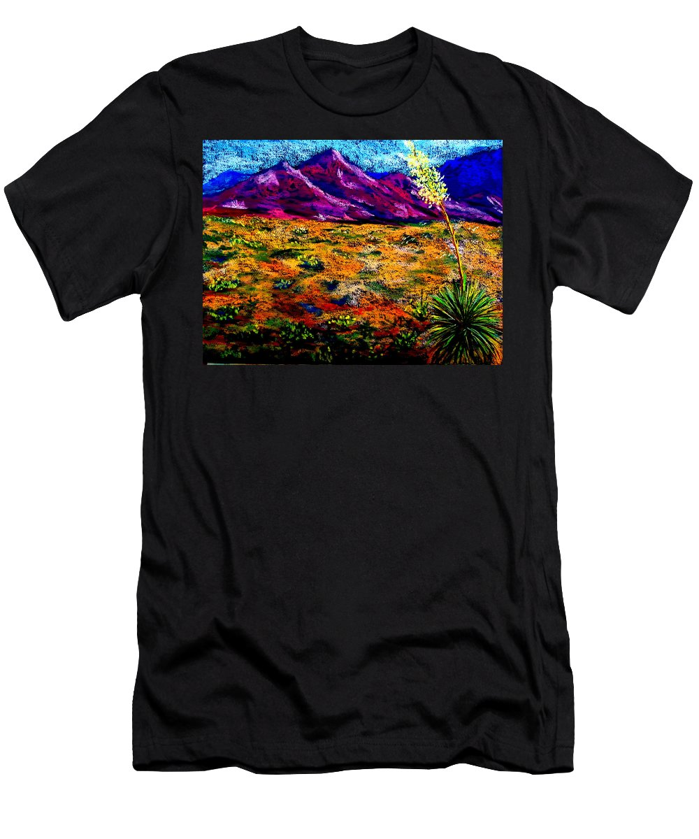 Yucca Men's T-Shirt (Athletic Fit) featuring the painting El Paso by Melinda Etzold