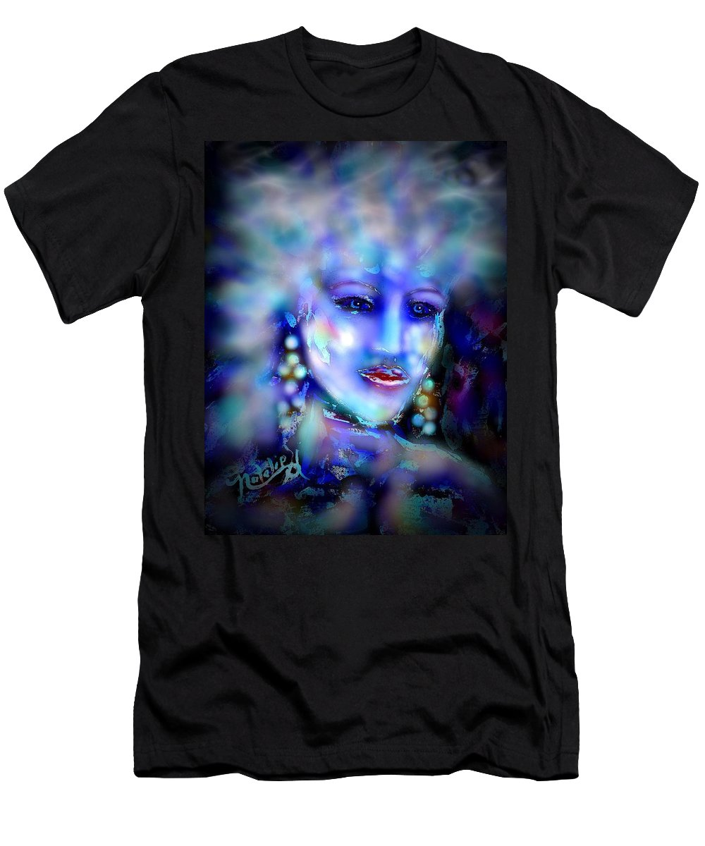 Woman Men's T-Shirt (Athletic Fit) featuring the painting Electra by Natalie Holland