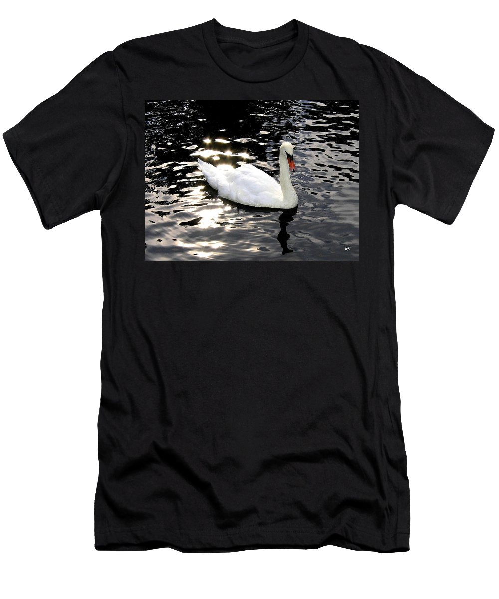 Sun Rays Men's T-Shirt (Athletic Fit) featuring the photograph Electric Waters by Will Borden