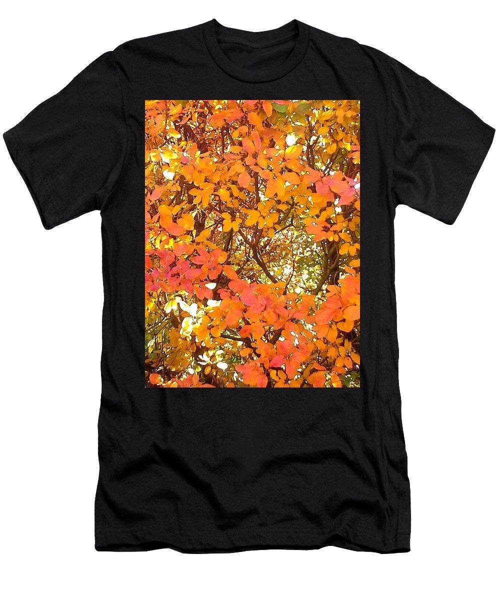 Autumn Men's T-Shirt (Athletic Fit) featuring the photograph Elegant Autumn by Jo-Ann Hayden