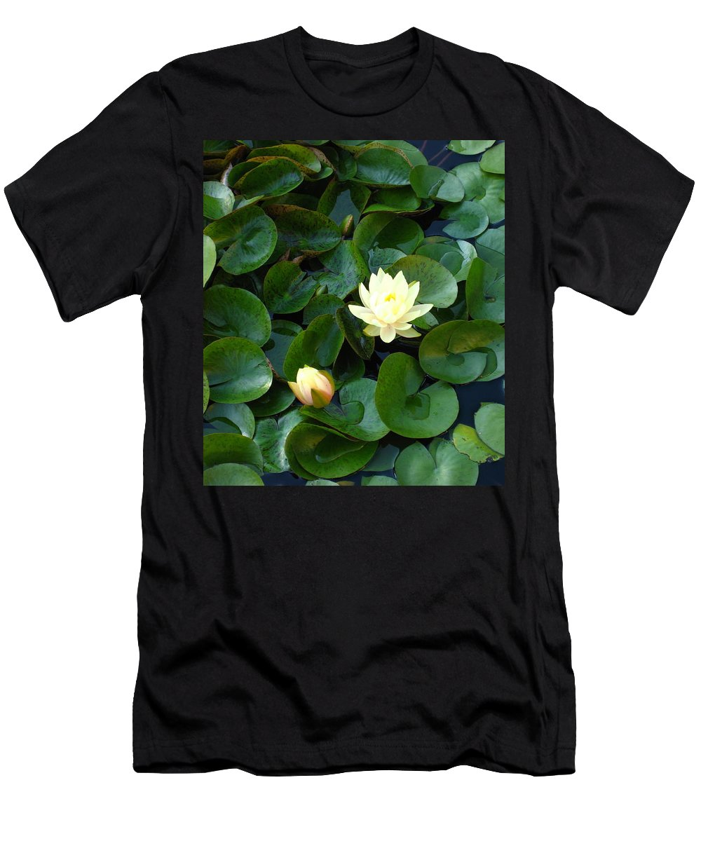 Water Lily Men's T-Shirt (Athletic Fit) featuring the photograph Elegant Water Lily by Sherry Oliver
