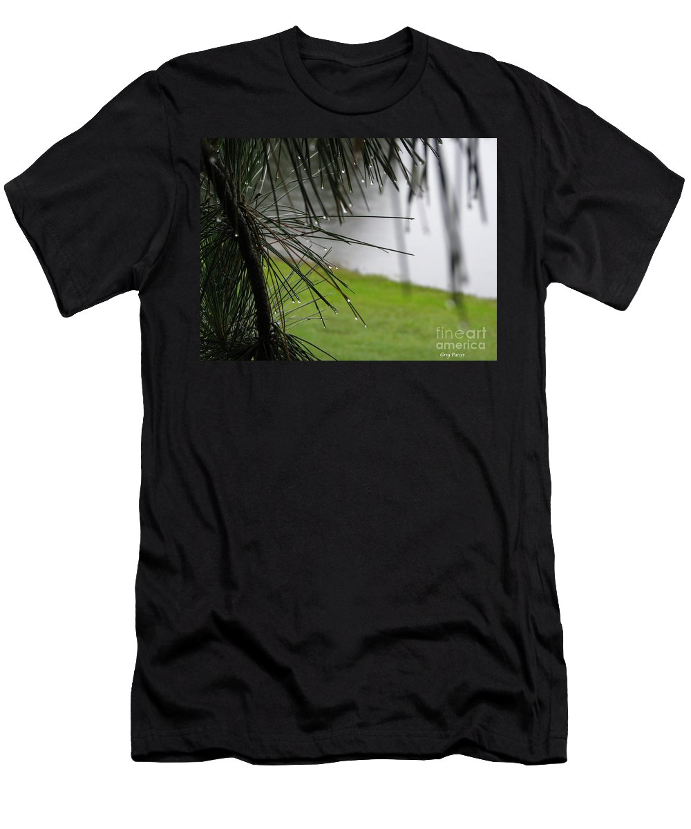 Lakes Men's T-Shirt (Athletic Fit) featuring the photograph Elements by Greg Patzer