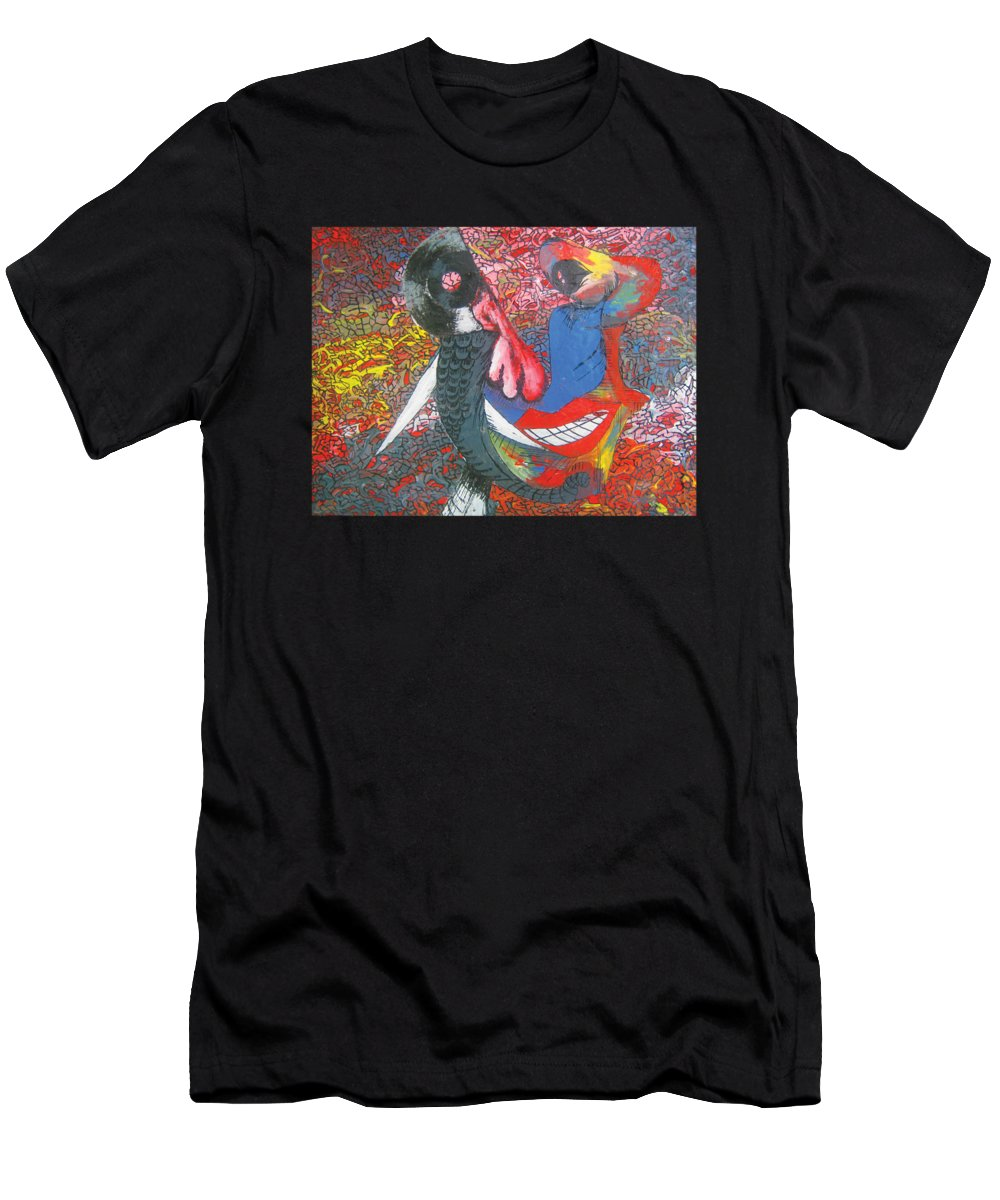 Multiple Color Palette Men's T-Shirt (Athletic Fit) featuring the painting Elephant Trunk 3 A Self-portrait by Simon Wairiuko