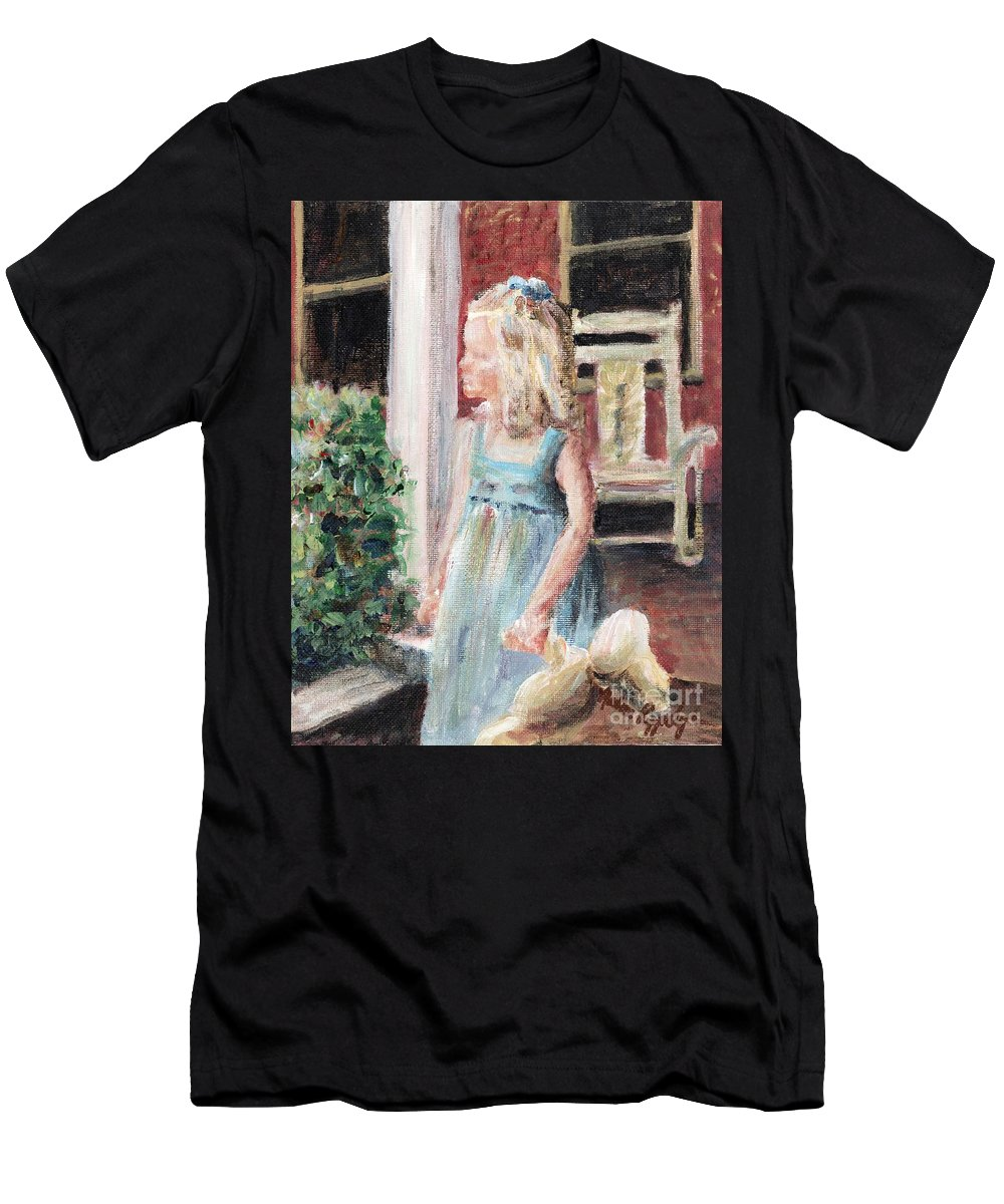 Girl Men's T-Shirt (Athletic Fit) featuring the painting Elizabeth Anne by Nadine Rippelmeyer
