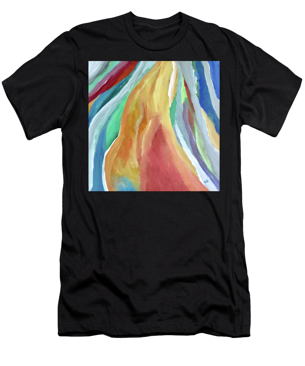 Feminine Men's T-Shirt (Athletic Fit) featuring the painting Elle by Victoria Lakes