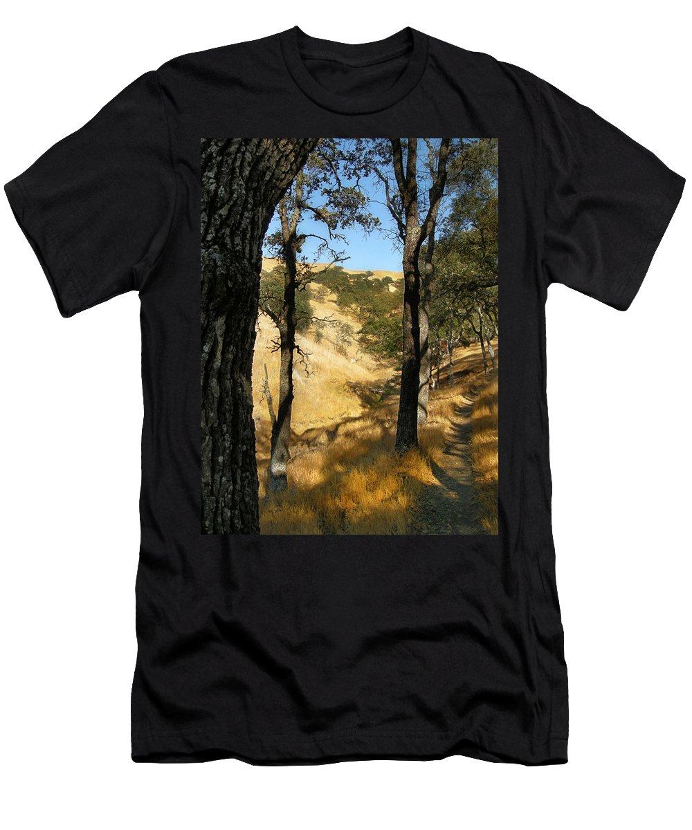 Landscape Men's T-Shirt (Athletic Fit) featuring the photograph Elyon's Doorway by Karen W Meyer