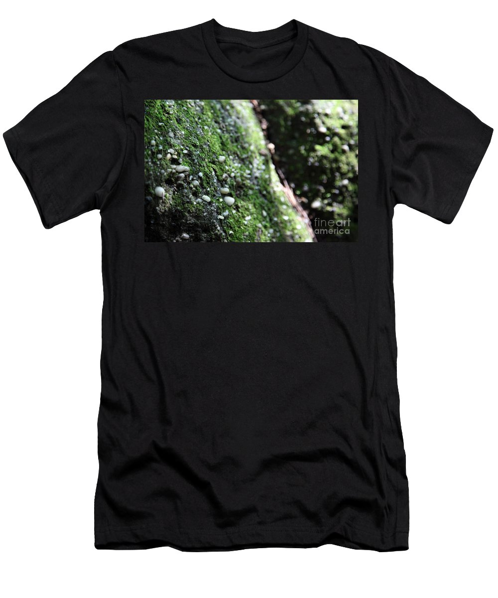 Rocks Men's T-Shirt (Athletic Fit) featuring the photograph Embedded by Amanda Barcon