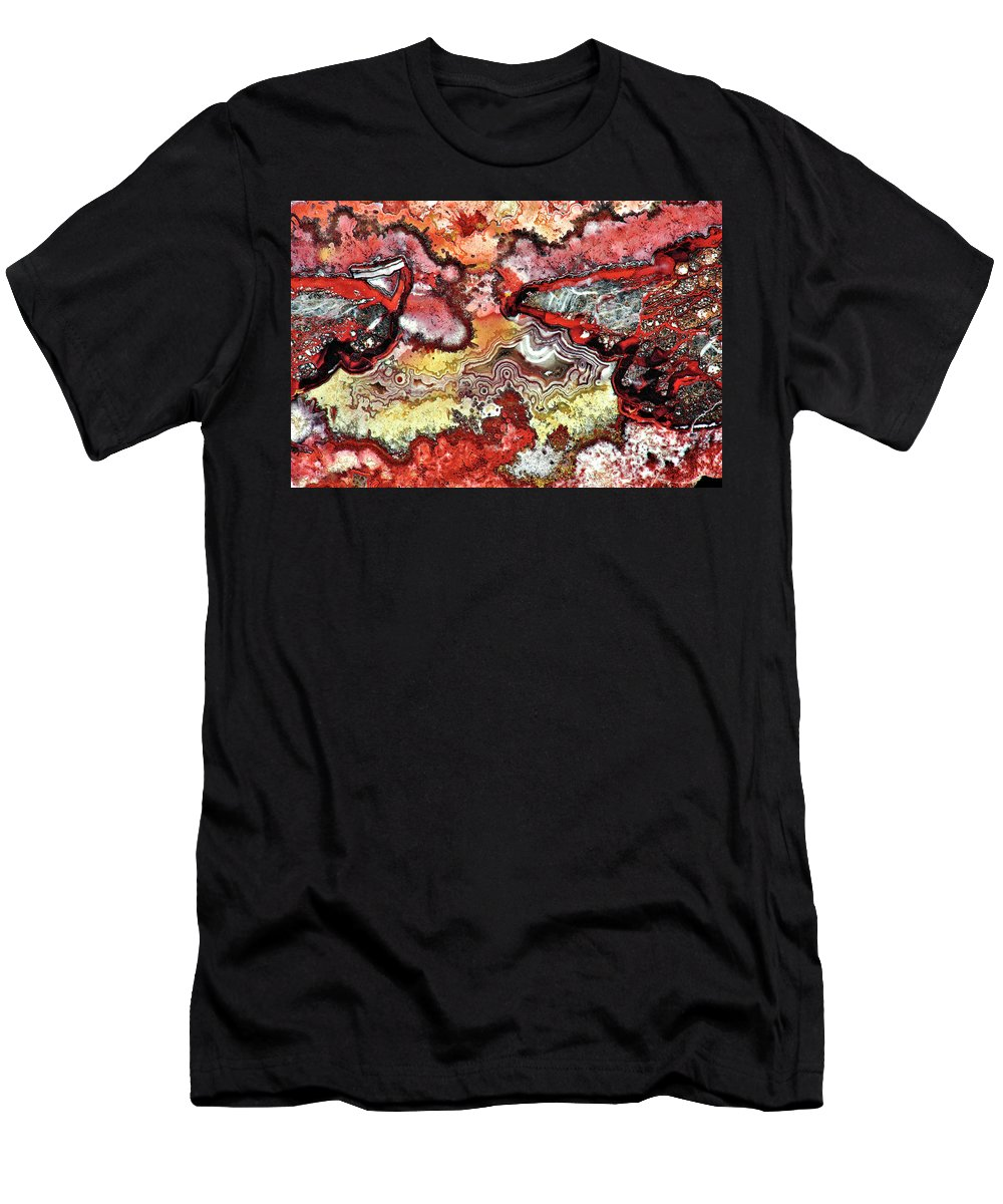 Agate Men's T-Shirt (Athletic Fit) featuring the photograph Ember Glow by Russell Costin