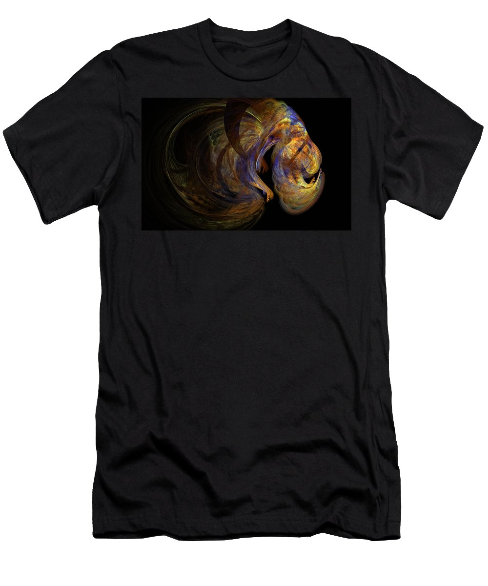 Abstract Digital Photo Men's T-Shirt (Athletic Fit) featuring the digital art Embryonic by David Lane