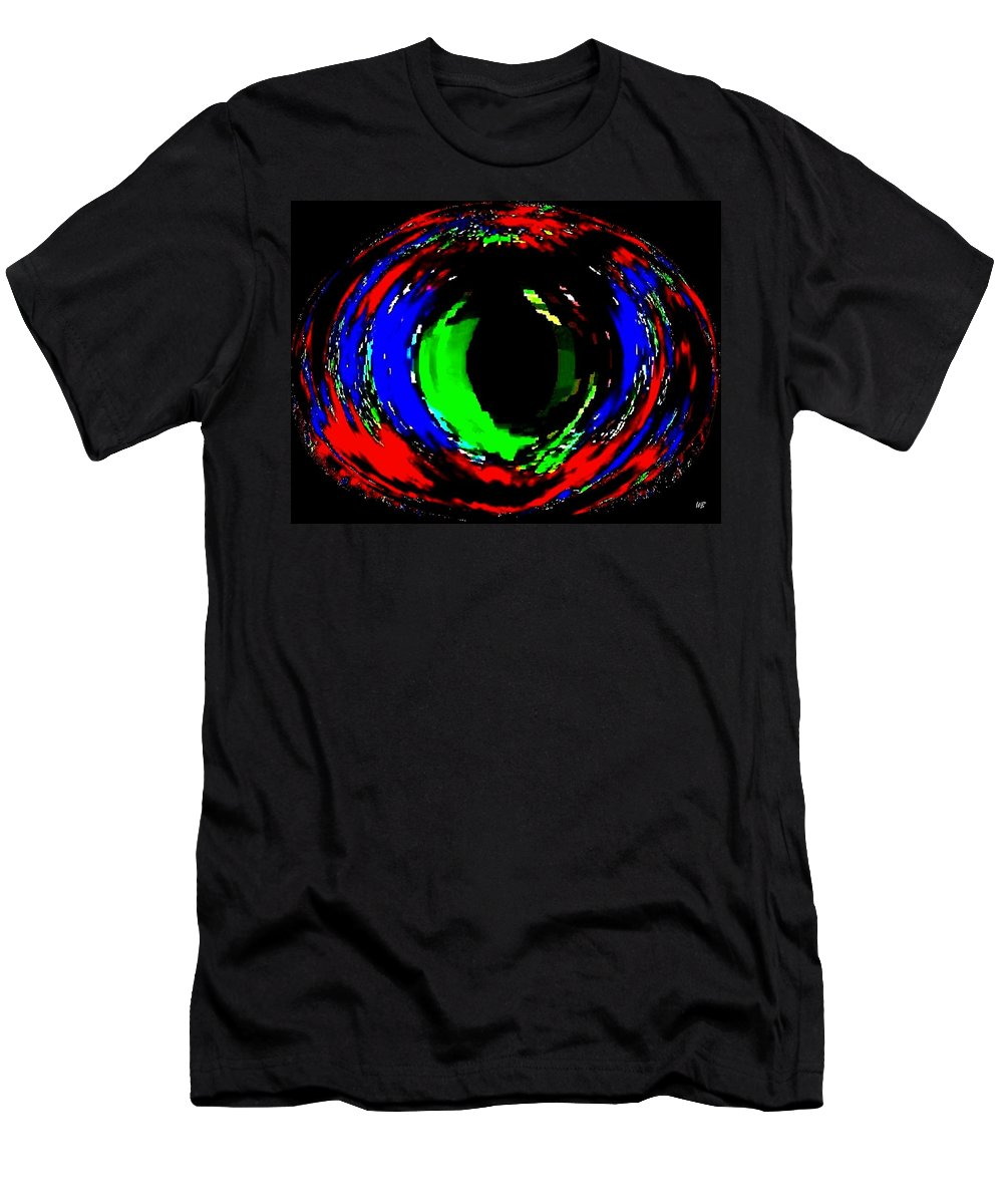 Abstract Men's T-Shirt (Athletic Fit) featuring the digital art Emerald Eye by Will Borden
