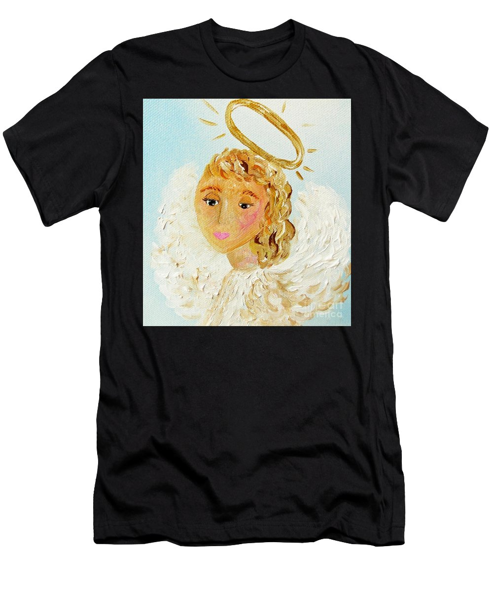 Emily Men's T-Shirt (Athletic Fit) featuring the painting Emily by Eloise Schneider Mote