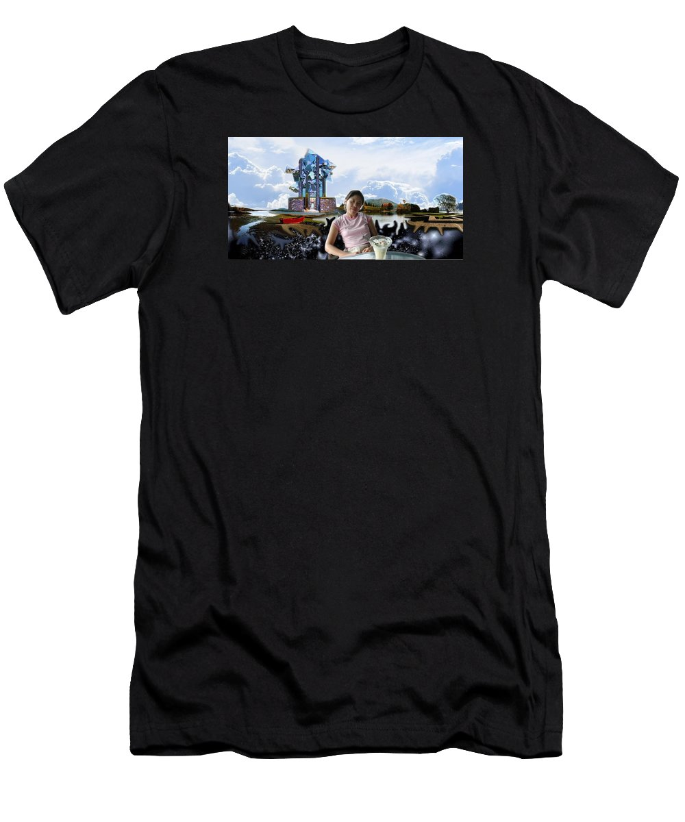 Spacem Maine Men's T-Shirt (Athletic Fit) featuring the digital art Emma's Afternoon Snack by Dave Martsolf