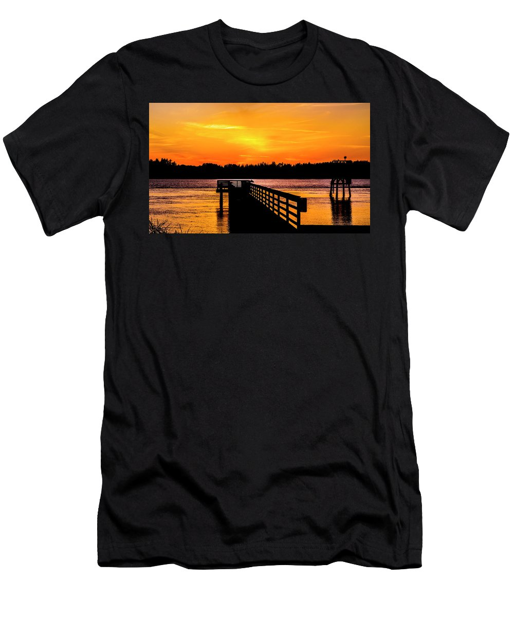 Men's T-Shirt (Athletic Fit) featuring the photograph Empire Docks by Angus Hooper Iii