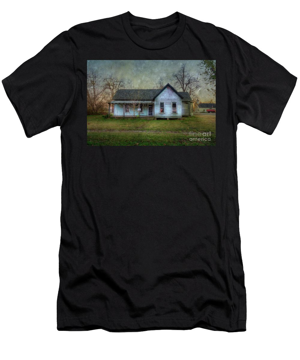 Walking Men's T-Shirt (Athletic Fit) featuring the photograph Empty by Larry Braun