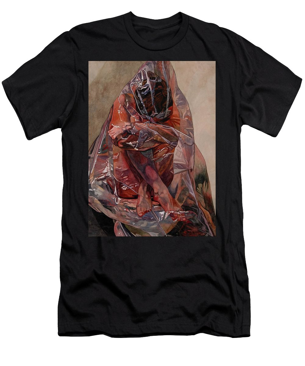 Nude Men's T-Shirt (Athletic Fit) featuring the painting Encompassed by Valerie Patterson
