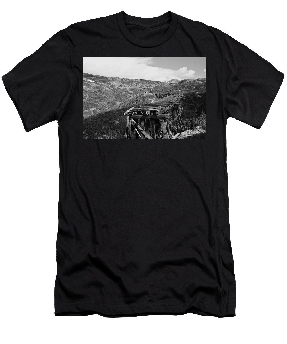 Train Men's T-Shirt (Athletic Fit) featuring the photograph End Of The Line by Natalie Soroka