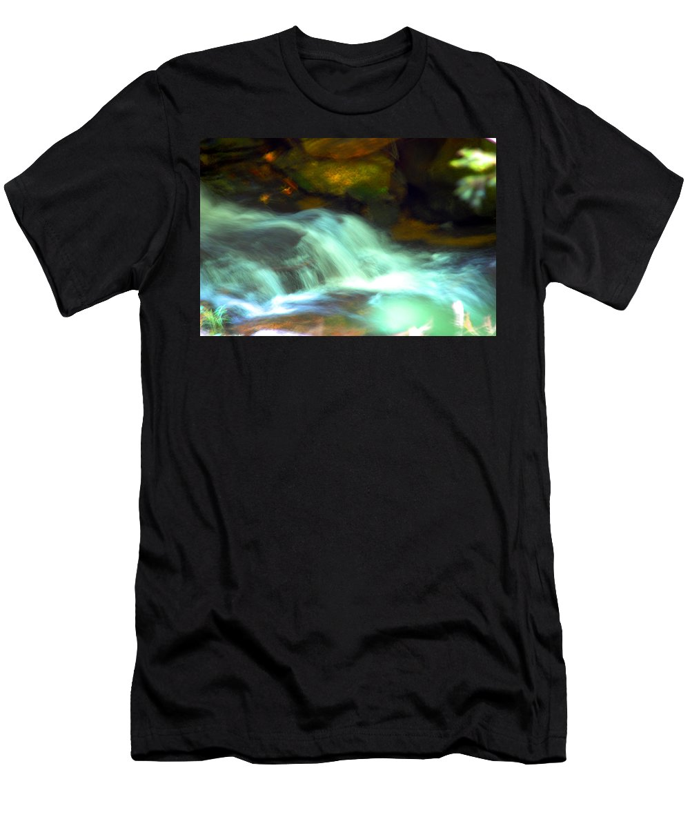 Photography Men's T-Shirt (Athletic Fit) featuring the photograph Endless Water by Susanne Van Hulst