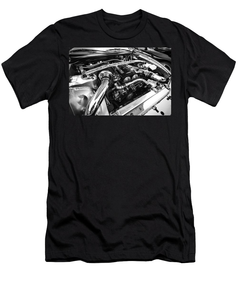 Engine Men's T-Shirt (Athletic Fit) featuring the photograph Engine Bay by Eric Gendron