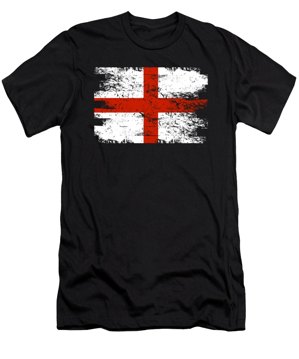 Patriotic Men's T-Shirt (Athletic Fit) featuring the digital art England Gift Country Flag Patriotic Travel Shirt Europe Light by J P