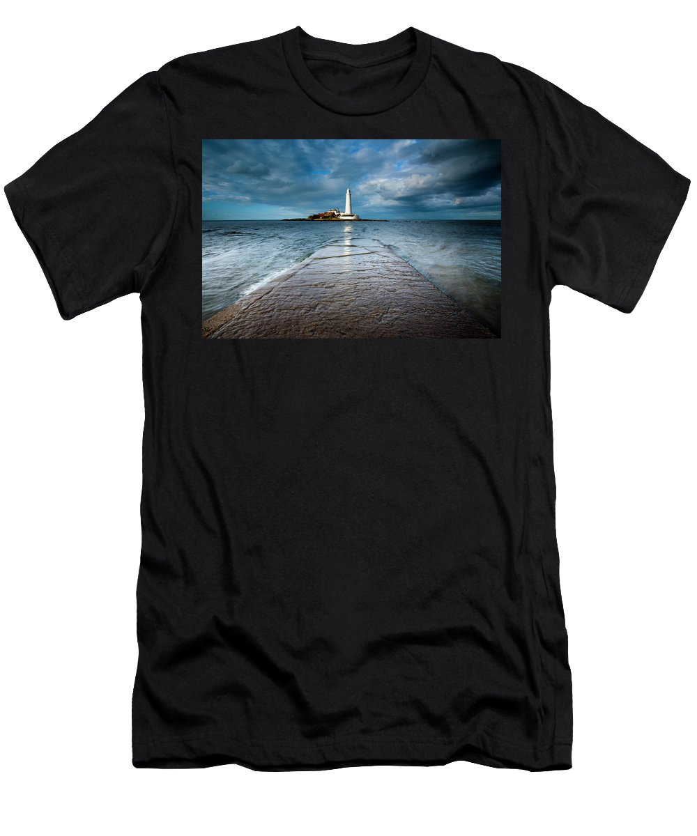 Northumberland Men's T-Shirt (Athletic Fit) featuring the photograph England, Tyne And Wear, Whitley Bay by Jason Friend