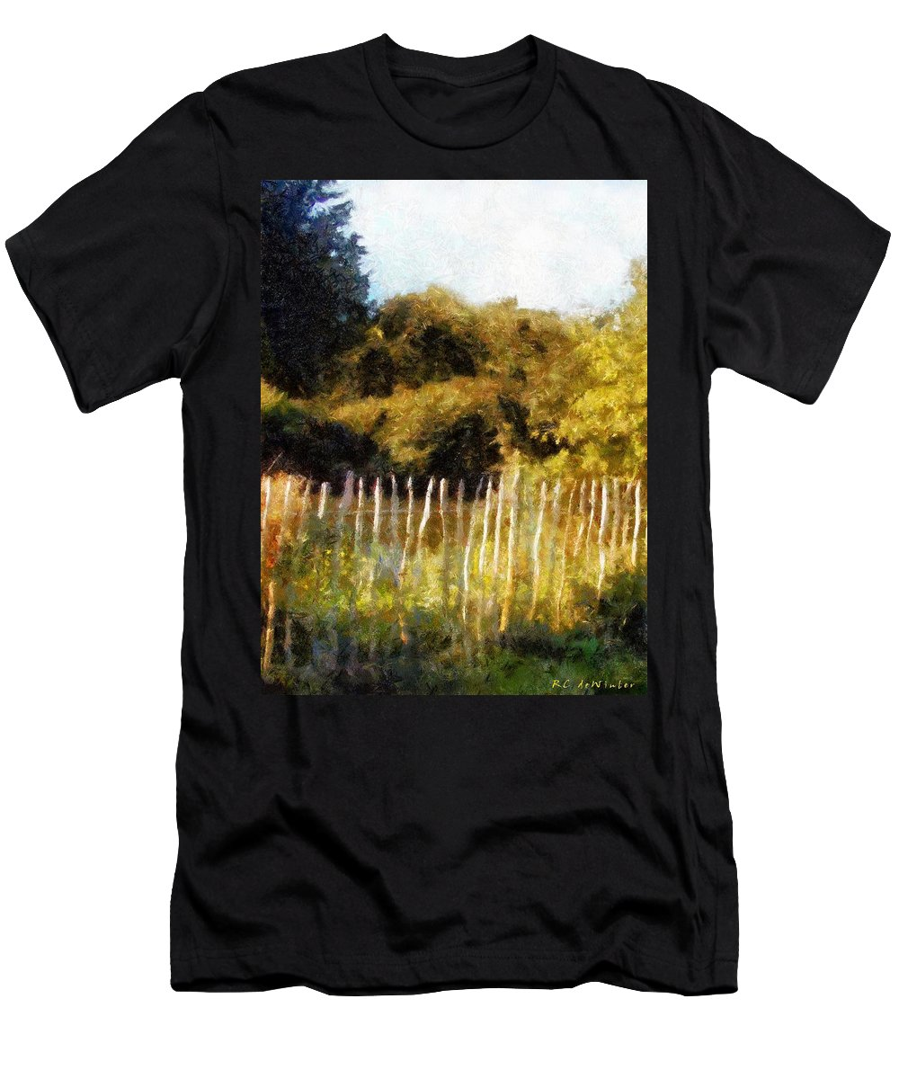 Landscape Men's T-Shirt (Athletic Fit) featuring the painting English Pastorale by RC DeWinter