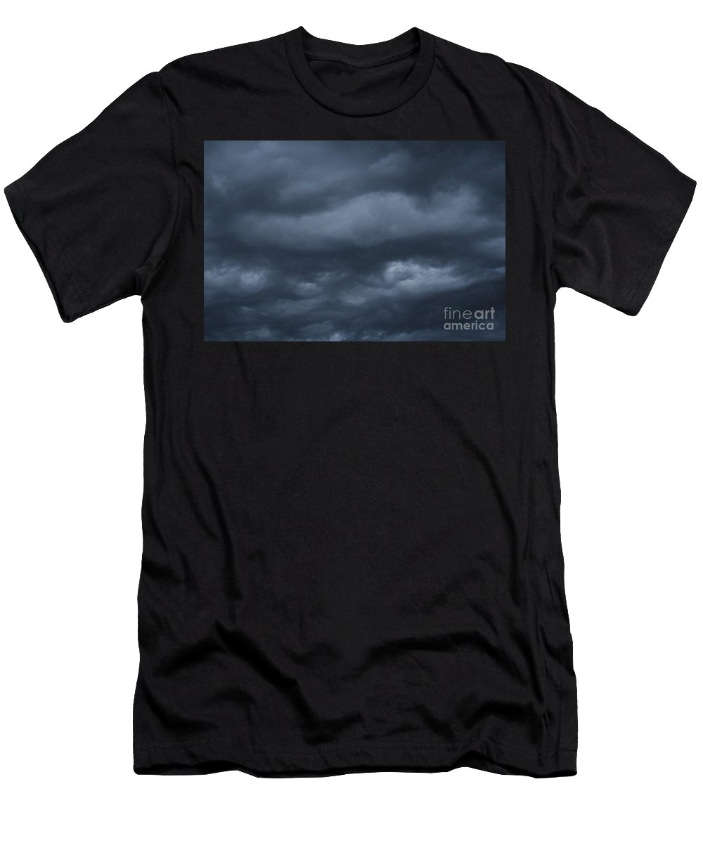 Monsoon Men's T-Shirt (Athletic Fit) featuring the photograph Engulfed In Waves Of Blue by Lynn Michelle