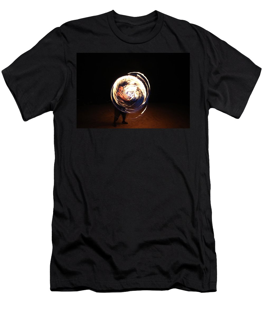 Fire Men's T-Shirt (Athletic Fit) featuring the photograph Engulfed by Samantha Burrow